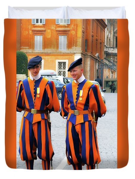 Papal Swiss Guards Duvet Cover