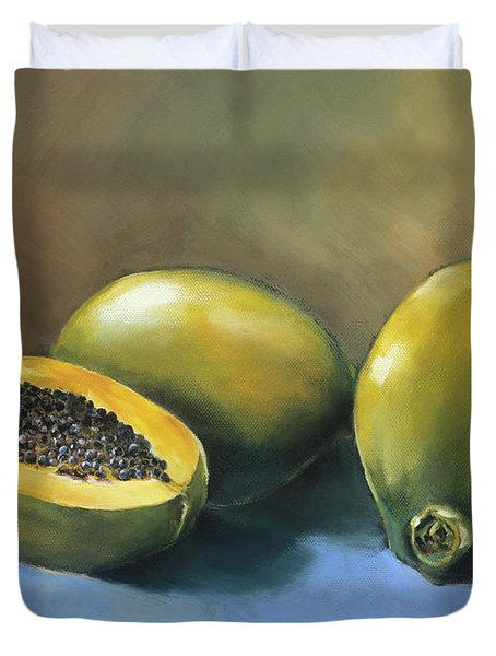 Papaya Duvet Cover by Han Choi - Printscapes