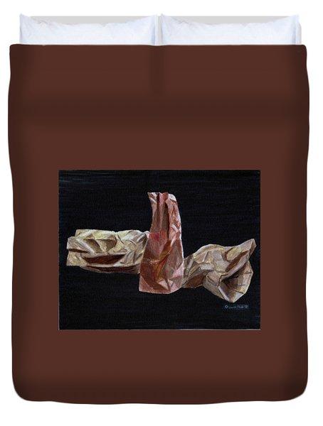 Paper Bags Duvet Cover