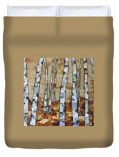 Paper Birch 3 Duvet Cover