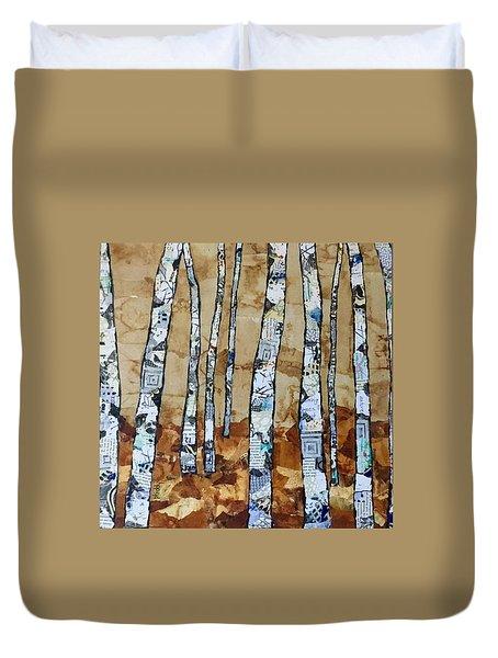 Paper Birch 3 Duvet Cover