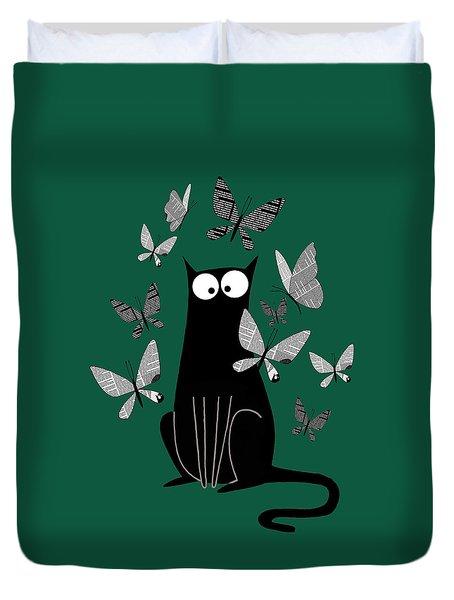 Paper Butterflies  Duvet Cover by Andrew Hitchen