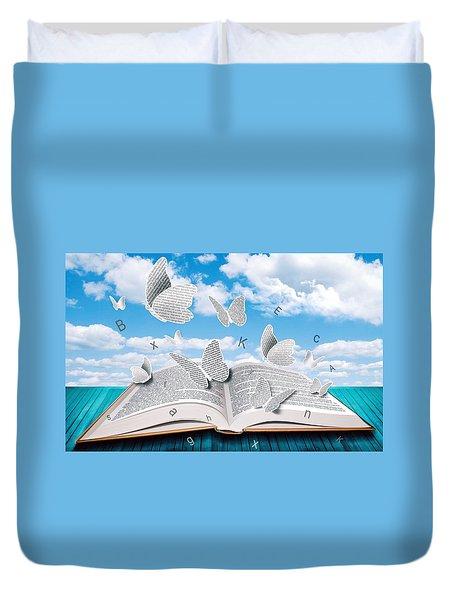 Paper Butterflies Duvet Cover