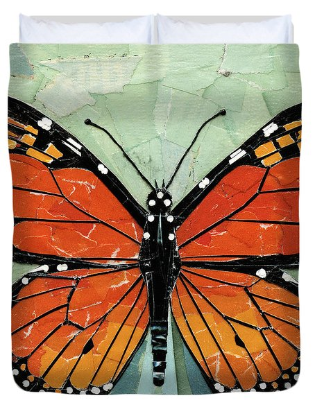 Paper Butterfly - Monarch Duvet Cover