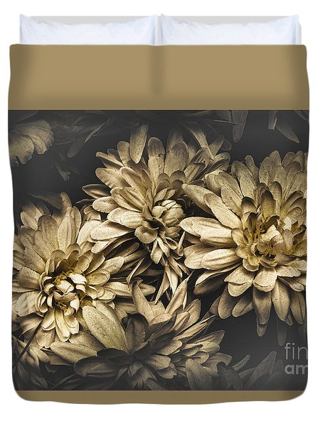 Duvet Cover featuring the photograph Paper Flowers by Jorgo Photography - Wall Art Gallery