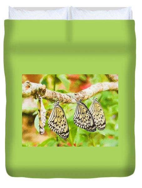Paper Kite Butterflies Duvet Cover