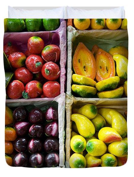 Paper Mache Fruits Duvet Cover by Gloria & Richard Maschmeyer - Printscapes