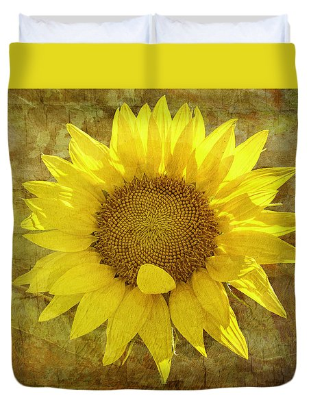 Duvet Cover featuring the photograph Paper Sunshine by Melinda Ledsome
