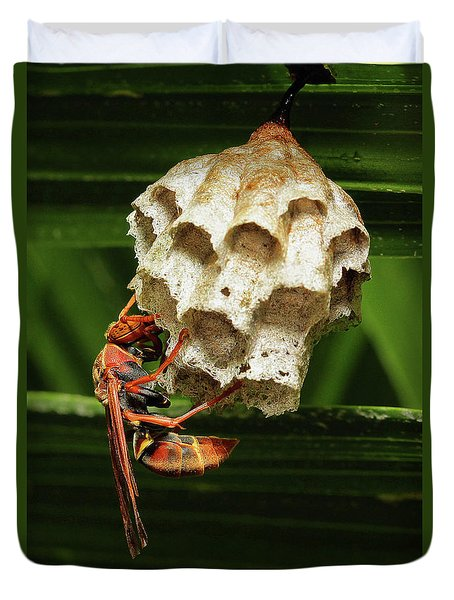 Paper Wasps 00666 Duvet Cover