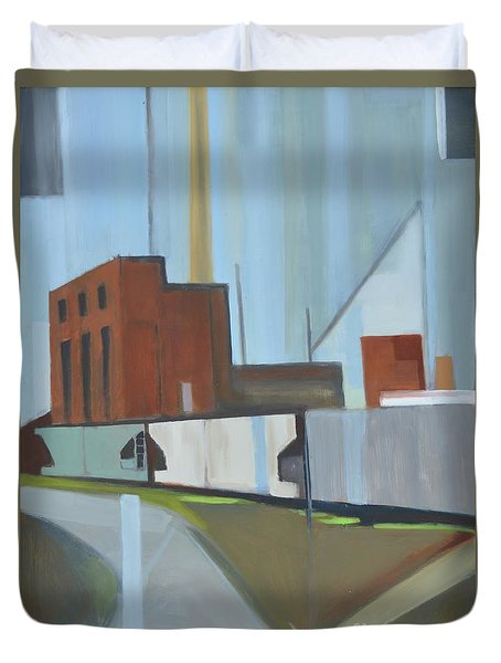 Paperboard Factory Bogota Nj Duvet Cover by Ron Erickson