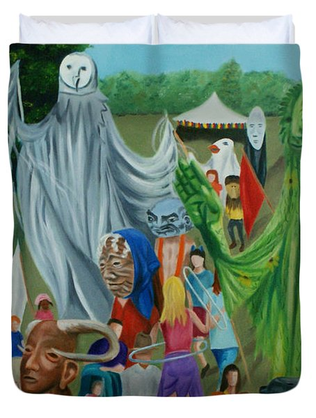 Paperhand Puppet Parade Duvet Cover