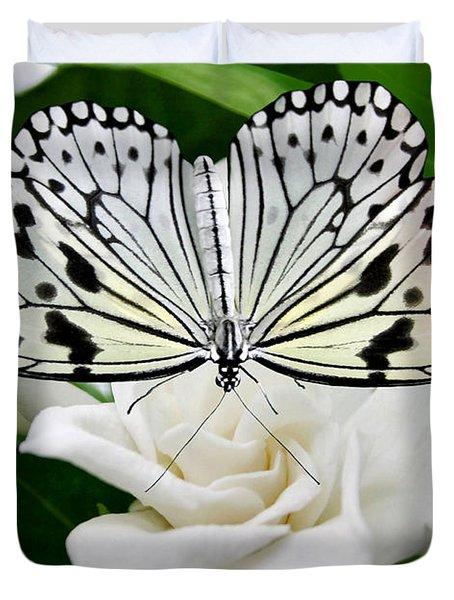 Paperkite On Gardenia Duvet Cover by Kristin Elmquist