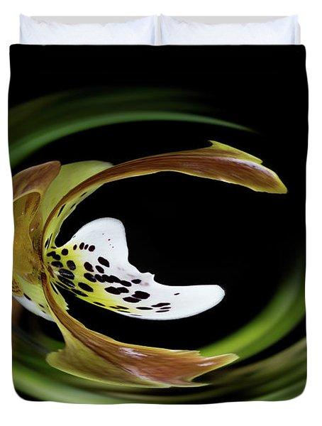 Paphiopedilum Abstract Duvet Cover