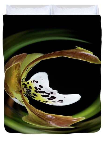 Paphiopedilum Abstract Duvet Cover