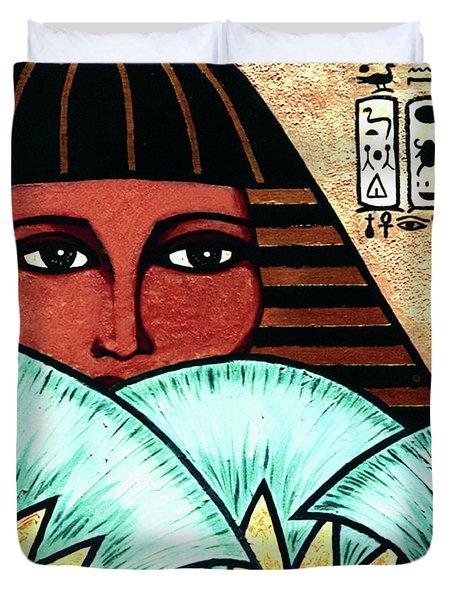 Papyrus Girl Duvet Cover