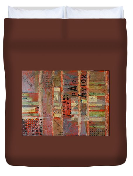 Par Avion Duvet Cover