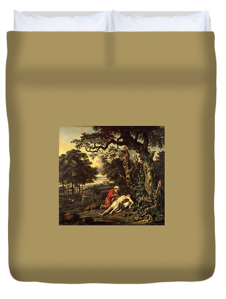 Parable Of The Good Samaritan Duvet Cover