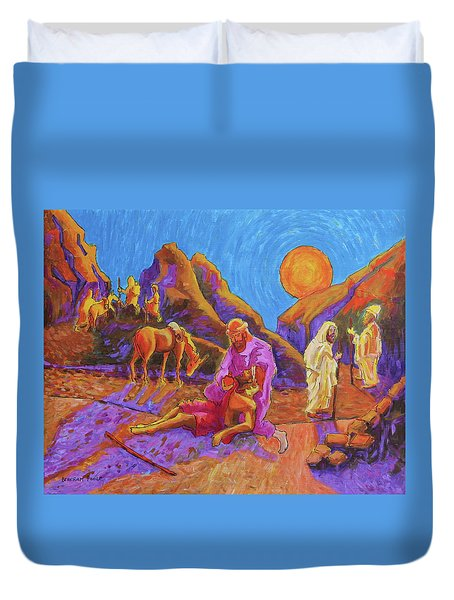 Parables Of Jesus Parable Of The Good Samaritan Painting Bertram Poole Duvet Cover