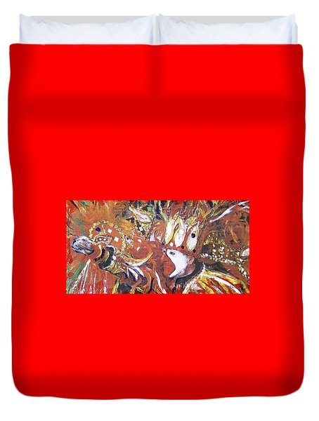 Leader Of The Mardi-gras Duvet Cover by Gary Smith