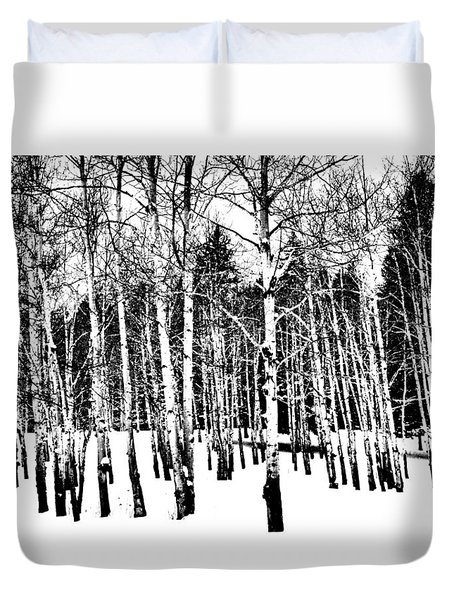 Parade Of Aspens Duvet Cover