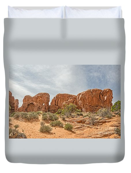 Duvet Cover featuring the photograph Parade Of Elephants by Sue Smith