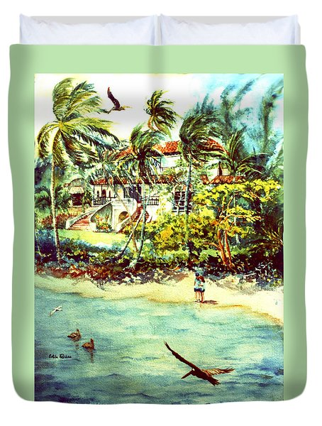 Paradise At Dorado Puerto Rico Duvet Cover by Estela Robles