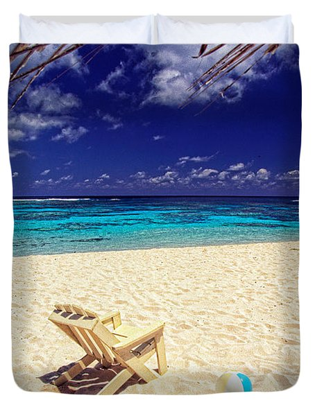 Paradise Beach Ball Duvet Cover