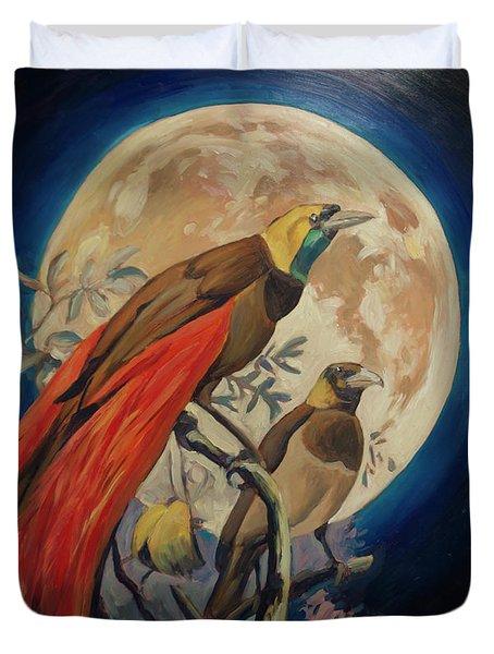 Paradise Birds Duvet Cover by Nop Briex