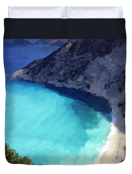 Paradise Cove Duvet Cover by Anthony Fishburne