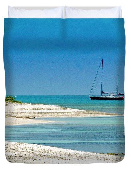 Paradise Found Duvet Cover by Debbi Granruth