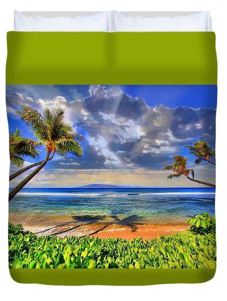Paradise Found - Kaanapali Beach Duvet Cover