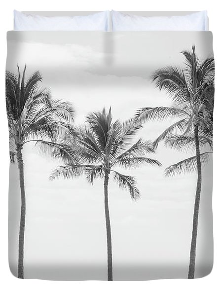 Paradise In Black And White II Duvet Cover