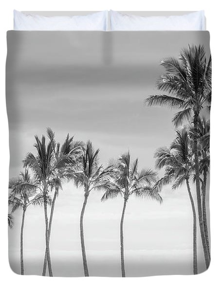 Paradise In Black And White Duvet Cover