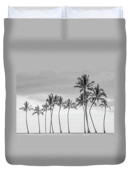 Paradise In Black And White Duvet Cover