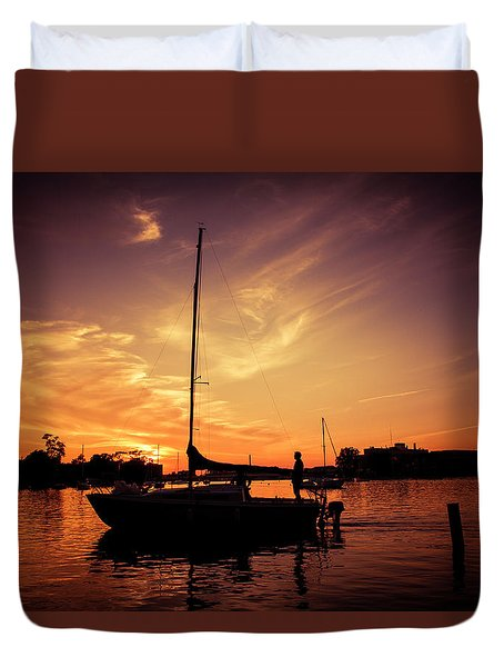 Duvet Cover featuring the photograph Paradise by Joel Witmeyer