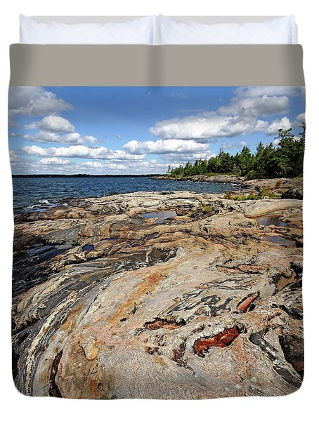 Paradise On Wreck Island Duvet Cover