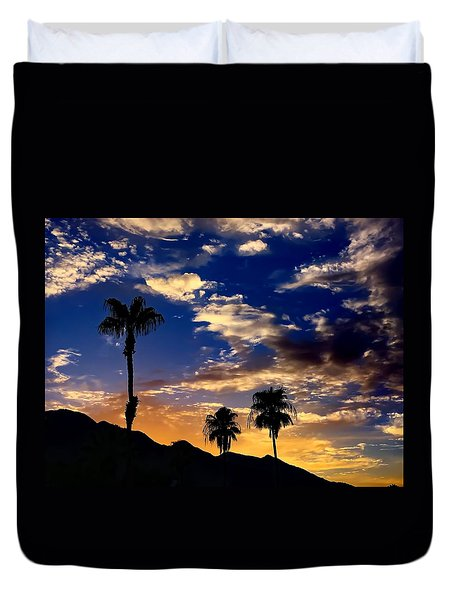 Paradise Palm Springs Duvet Cover by Chris Tarpening