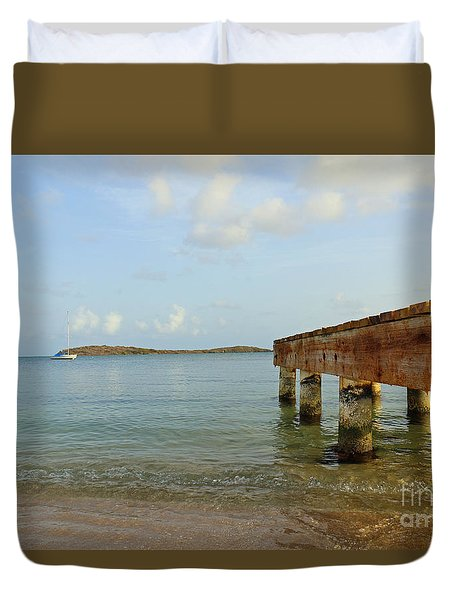 Paradise Pier Duvet Cover by Mary Haber