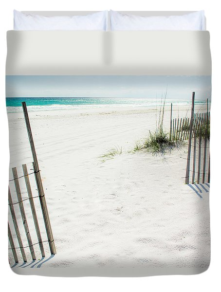 Paradise Scenery Duvet Cover by Shelby  Young