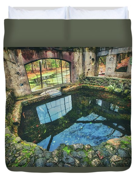 Paradise Springs- Spring House - Kettle Moraine State Forest Duvet Cover by Jennifer Rondinelli Reilly - Fine Art Photography