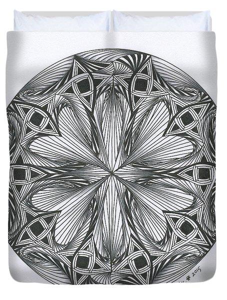 Paradoxical Zendala Duvet Cover
