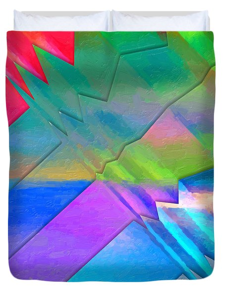 Parallel Dimensions - The Multiverse Duvet Cover by Serge Averbukh