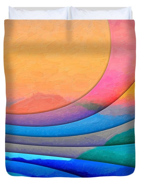 Parallel Dimensions - The Sacred Mountain Duvet Cover by Serge Averbukh
