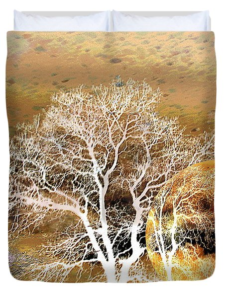 Duvet Cover featuring the photograph Parallel Worlds by Joyce Dickens