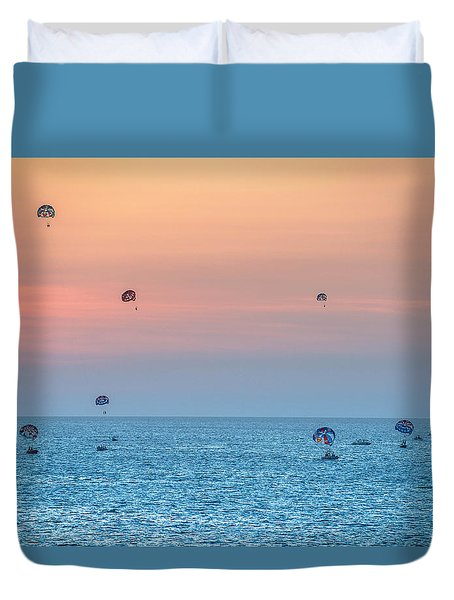 Parasailing At Boracay Duvet Cover
