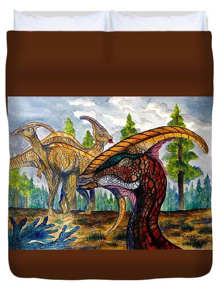 Parasaurolophus Duvet Cover