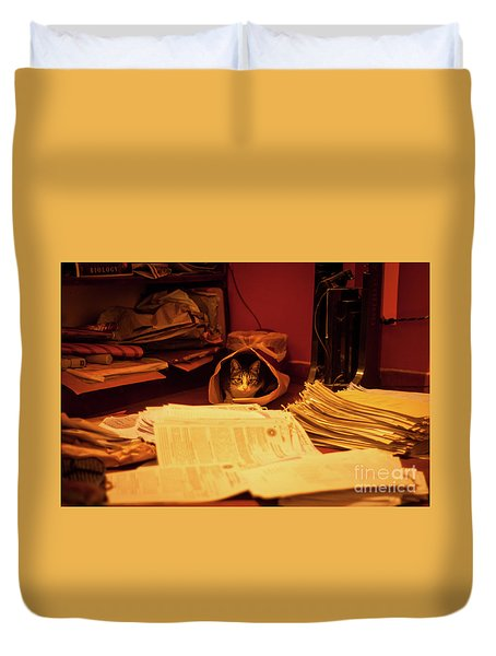 Parcel Cat Duvet Cover