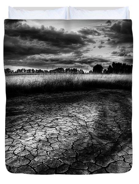 Parched Prairie Duvet Cover by Dan Jurak