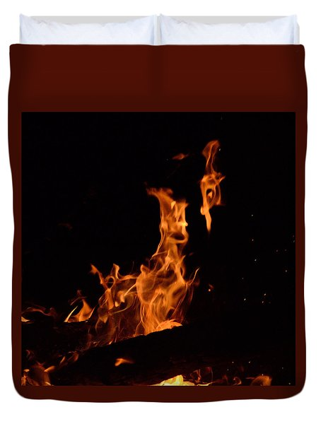 Pareidolia Fire Duvet Cover