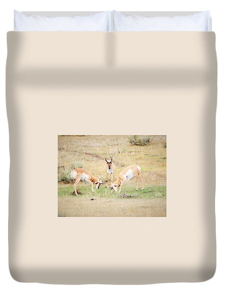 Parent Watching Sparring  Duvet Cover